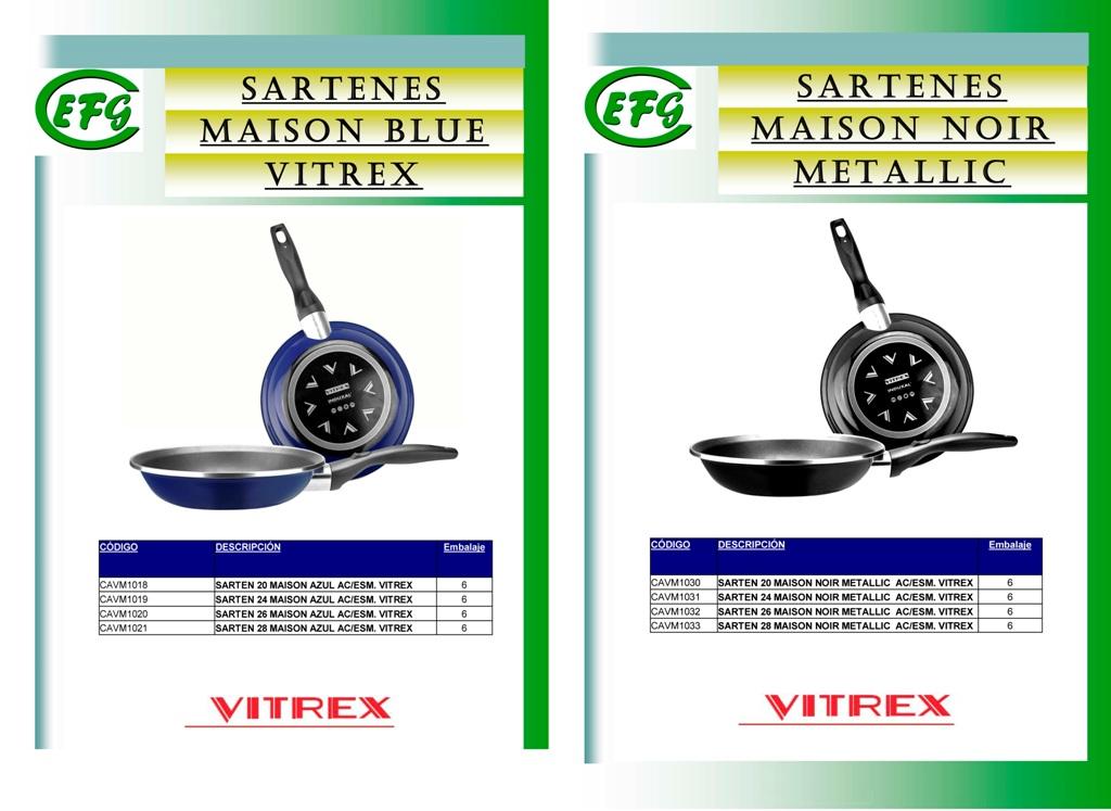 SARTEN 24 MAISON AZUL AC/ESM. VITREX
