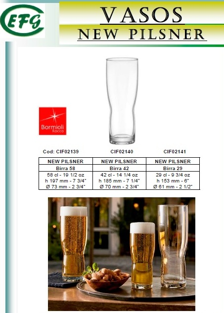 NEW PILSNER 42 CL VASO C-6