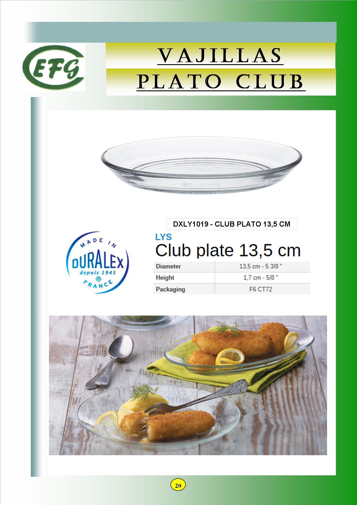 CLUB 13'5 PLATO
