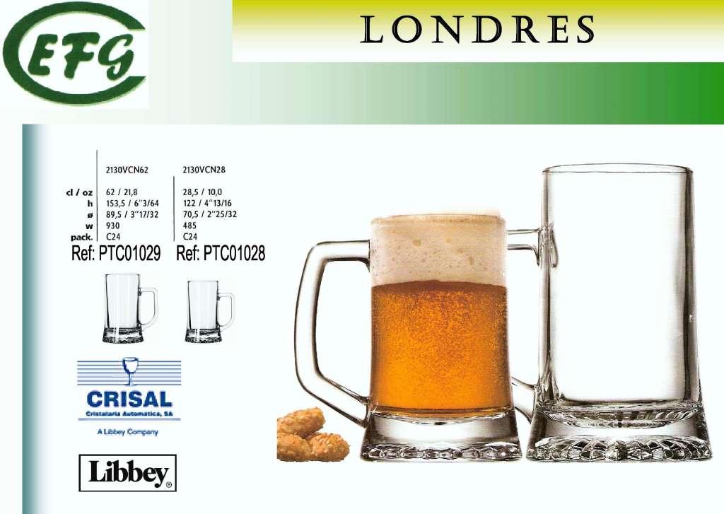 LONDRES 62 CERVEZA JARRA CRISAL R/2089