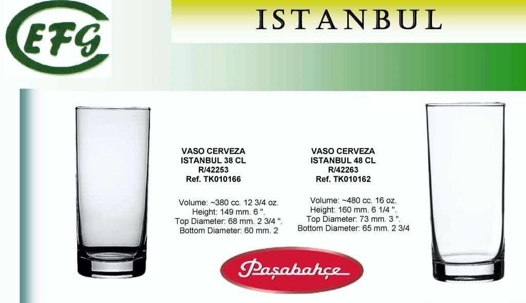 ISTAMBUL CERVEZA 38 CL VASO R/42253