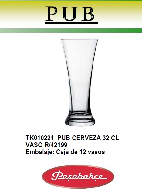PUB CERVEZA 32 CL VASO R/42199