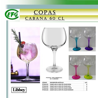 Cabana Cabana 60 cl Transp.y Pie Color