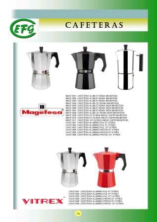Cafeteras  Magefesa y Vitrex