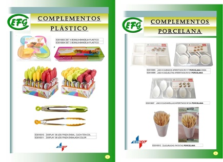 Complementos Plástico y Porcelana